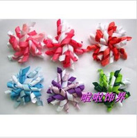Wholesale baby flower hairbows quot korker satin hair clip hairband flowers in sincere