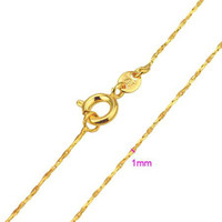 Wholesale Quality Women s K Yellow Gold Plated MM Chains Necklaces XX0523 C301