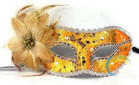 Wholesale Beautiful flower side sequined cloth mask