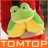 Wholesale great gift Cute cartoon frog pillow Stuffed Animal cushion sofa seat cushions baby plush toys H4213