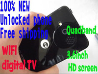 Wholesale New inch Touch Screen DVB T Digital TV WiFi Mobile Unlocked Quad band Cell Phone QE