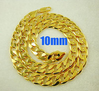 Wholesale New Fashion Men s jewelry K Gold plated mm Curb necklace inch cm