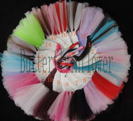 Wholesale tutu dresses baby tutus girl ballet dresses crochet bodice dress colors