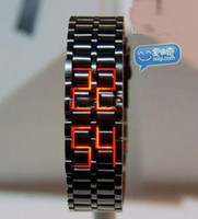Digital arch digital - Led watch IRON SAMURAI Japanese Inspired Volcanic lava mens watches mix color triumphal arch