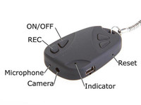 Wholesale Key chain Car Key Security Spy mini DV Camera Recorder and Audio Recorder GB micro HC SD card