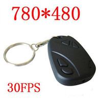 Wholesale 720x480 fps Mini DV SPY Car keys Camera DVR with Audio Recorder