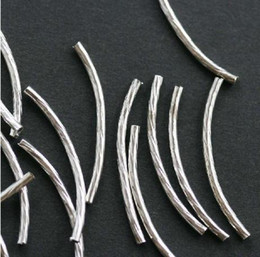 Free shipping 1000pcs/bag Silver Plated Curved Spacer Tube 2*20mm/Jewelry Findings/HOT Sale/HI-Q