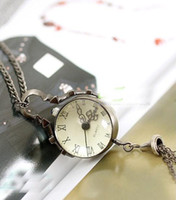 Wholesale Retro dimensional ball necklace watch necklace sweater necklace