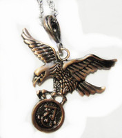 Wholesale Jewelry Necklace Eagle Strange Insects Cross Copper Color Large Pendant Necklace Chain Long CM
