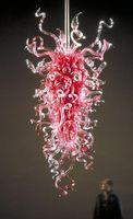 Wholesale v LED Bedroom Decorative Light Hand Blown Glass Chandelier In Pink Color