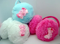 Wholesale Ear Muffs Plush Earmuffs Baby s Protect Ears Warm Ear Cover Lace Bow Butterfly Knot