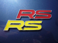 Wholesale Metal RS Emblems Badge RACING SPORT Sticker Decal
