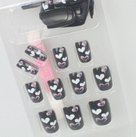Wholesale 20boxs optional Acrylic Nail Art False Fake Nail Tips With Nail Glue box