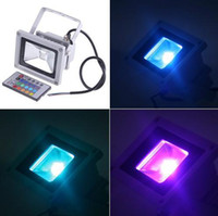 Wholesale 10W RGB LED Flood Light Waterproof IP65 Landscape Lamp With Remote Control AC V