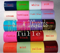 Wholesale Multicolor unique style tulle rolls yard per roll colors for choice rolls