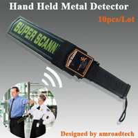 Wholesale 10pcs Hand Held Portable Security Metal Detector Metal Scanner from amroadtech MD B1