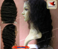 Wholesale Full Lace Wig Indian Remy Human Hair Wig quot quot quot Curly Color B