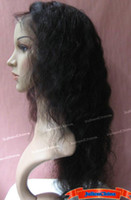 "Black #1b Indian hair Curly Full Lace Wig 100% Indian Remy Human Hair Wig 16"",18"",20"" Curly Color 1B# Hair Wigs Free Shipping Wholesale"