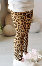 Wholesale girl leopard pants Children Leggings Girls Leopard Leggings baby pants girl leopard tigh