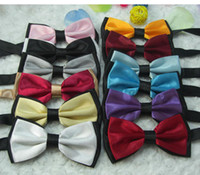 Wholesale mens bowtie marriage bow tie men s silk bow tie two tone neckwear women s bowties color