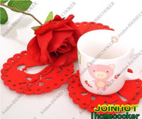 Wholesale Christmas decoration Fashion felt coaster Mats amp Pads cup coaster Little Bird pieces