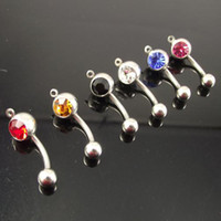 Wholesale belly ring add your own charm mixed color body jewelry navel piercing