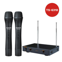 Wholesale Takstar TS handheld Wireless Microphone System Holding hands with retail packaging professional for household and on stage performance