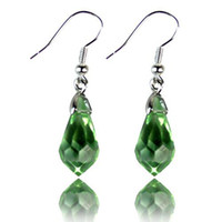 Wholesale 2016 Hot Sale pairs Women Female Fashion Earrings Mixed Colors Crystal Drop Silver Plated Hook Dangle