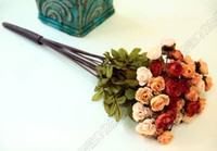 Wholesale Clearance Bride Holding Flower Decorative colorful dried craft Rose flowers use for ornaments