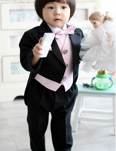 kid complete designer boy wedding suitboys attire custom made jacketpantstievest f61