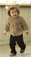 Wholesale Velvet baby coat Hooded animal designs romper infant clothes winter clothes