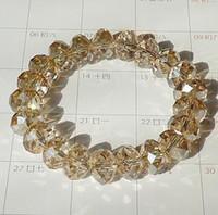 Precio de Mixed crystal beads-24pcs joyería al por mayor / porción pulsera cristalina mezclada de los colores unisex Hombres Mujeres Hombres Mujeres de los granos hechos a mano del estiramiento