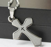 Wholesale Cool Stainless Steel Cross Mens Pendant Necklace Gift