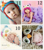 Wholesale 12pcs OWL crochet baby hat children cotton hat Stripes Beanie with ear ANIMAL HAT monkey fdtregrtg