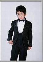 Wholesale Kid New Style Junior Boy Wedding Suit Boys Attire Custom made Jacket Pants Tie Girdle F85
