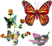 Wholesale Three Dimensional Simulation Butterfly Sticker Magnetic Fridge Stickers Decoration Car Sticker
