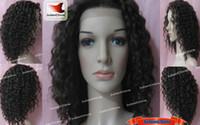 Wholesale Full Lace Wig Indian Remy Human Hair Wig quot quot quot Kinky Curl Color Hair Wigs