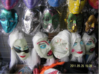Wholesale 10pcs halloween party mask Hooded Halloween Adult Latex Evil Zombie Mask ghost mask