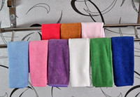 Wholesale Free Ship PC x35cm Microfiber Cleaning Cloth Microfibre Glass Kitchen Towel Golf Bowling Towels