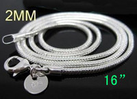 Wholesale Bulk silver fashion Venetian snake chain necklace hot sale MM inch