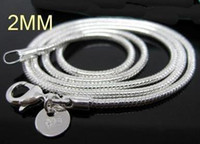 Wholesale silver fashion snake chain necklace hot sale MM inch