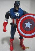 Wholesale Loose Captain American Avengers Marvel Super Hero Squad Action Anime Figures Cartoon Animation Toys