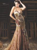 Diseño de encargo! Halter Nueva Sexy de encaje 2012 Exquisito rebordear Vestidos de noche bordado EWL86