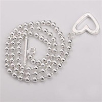 Wholesale Retail lowest price Christmas gift new silver fashion Necklace N235