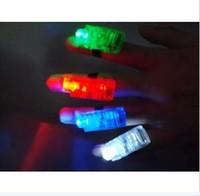 Solar Keychains Flashlight Men Wholesale - 100pieces bag Christmas Finger Light finger Lamp Led light