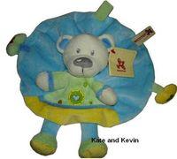 Wholesale Cuddle cloth Nicotoy Rattle Soft Plush Baby Toy quot CE MARK