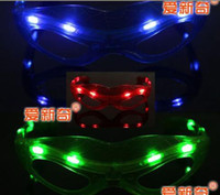 Solar Keychains Flashlight Men Wholesale - Chistmas Fancy Ball Halloween LED flash glasses fasion decoration for party