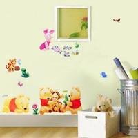 Wholesale Cartoon Winnie the Pooh wall stickers TC989