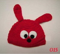 2-4 Years Beanie / Skull Cap Red 2011 New Animal Hat Costume Crochet owl Hat Baby Hat Beanie Cartoon Designs can choose chrismas gift
