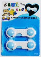 Cheap Wholesale - Lock pand,safe lock for chest ,icebox ,baby safety cabinet lock,400pcs lot,Via DHL